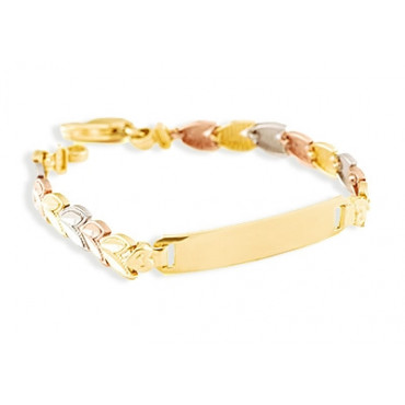 sold bangle bangles solid trinity cartier gold product tricolor bracelet love