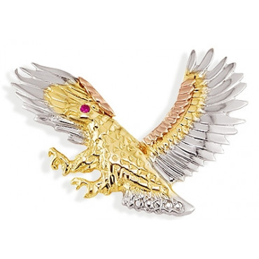 14k white yellow rose gold red cz flying eagle pendant mens jewelry aloadofball Images