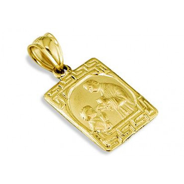 14k solid gold childs first communion greek key pendant aloadofball Images