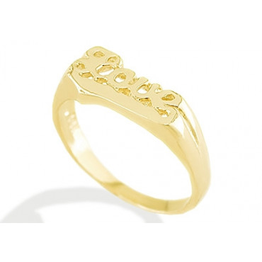 New 14k Solid Yellow Gold Love Childs Girl Boy Ring Children s