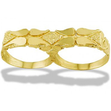 New 14k Solid Yellow Gold Nugget Knuckle Mens Ring Mens Jewelry