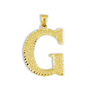 14k yellow gold letter initial g diamond cut pendant fashion 14k yellow gold letter initial g diamond cut pendant fashion pendants pendants aloadofball Images
