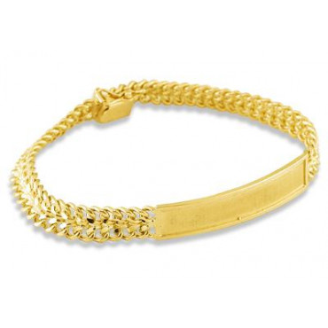 14k yellow gold cuban chain engraveable id bracelet menu0027s bracelets menu0027s jewelry