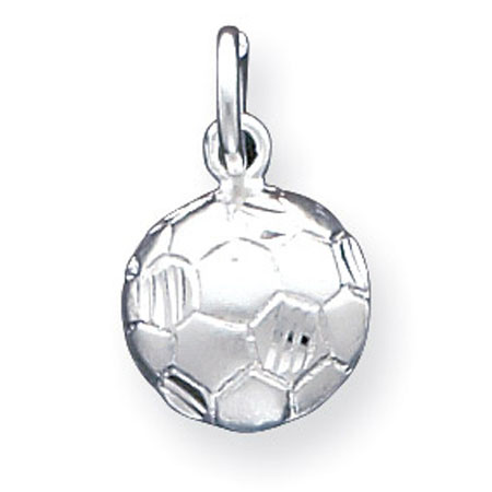 925 sterling silver solid soccer ball charm pendant sports add this soccer mozeypictures Image collections
