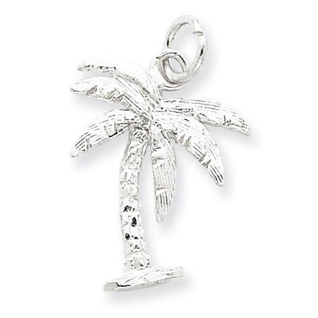 925 sterling silver ocean beach palm tree charm pendant mozeypictures Gallery