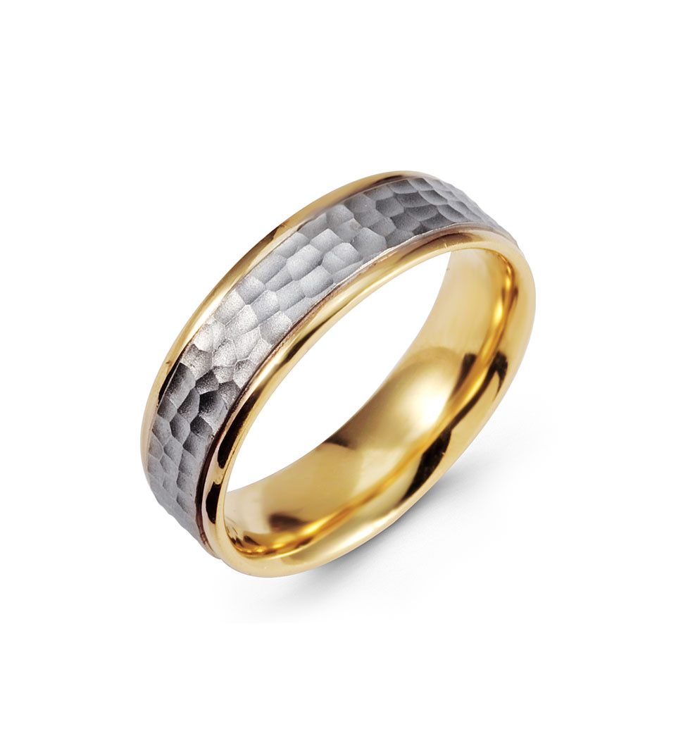 accept your hand in marriage with this gorgeous wedding ring a hammered 14k white gold