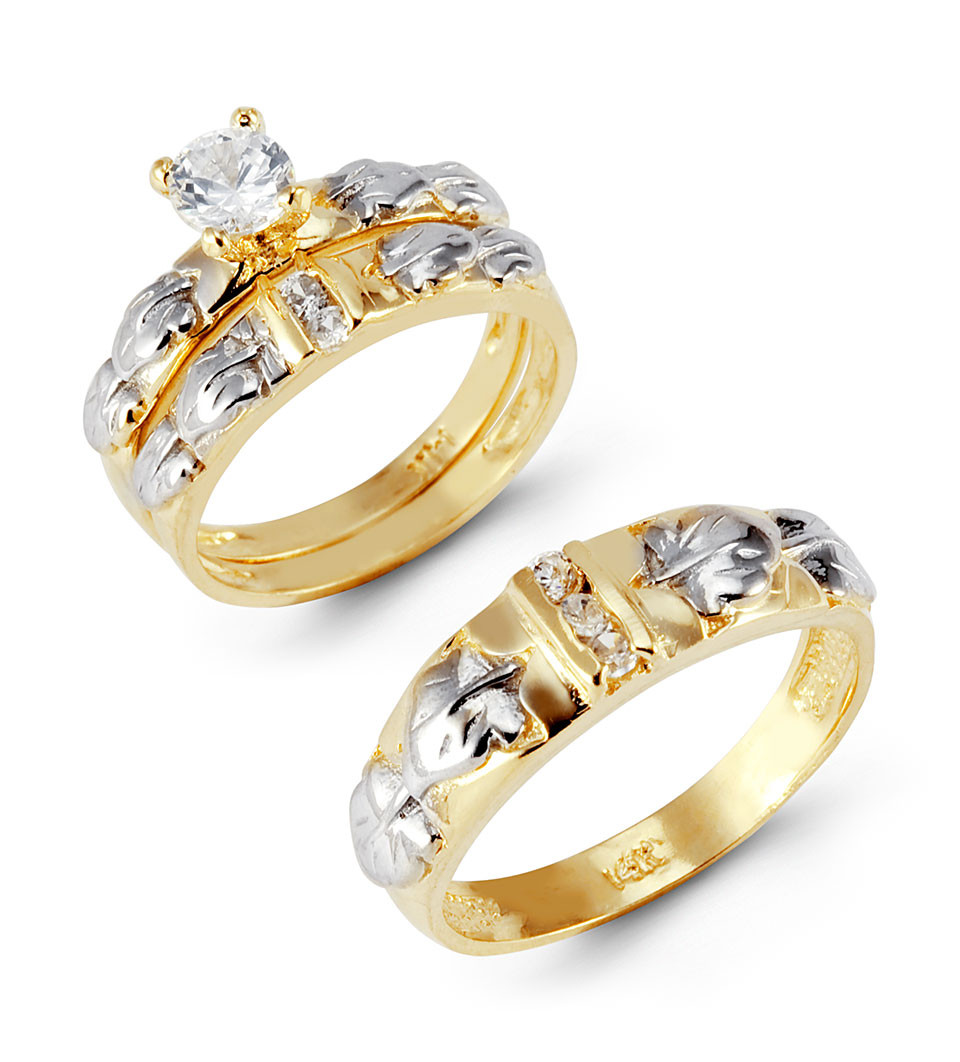 accent your life with beautiful white and yellow gold wedding rings - Gold Wedding Ring Sets