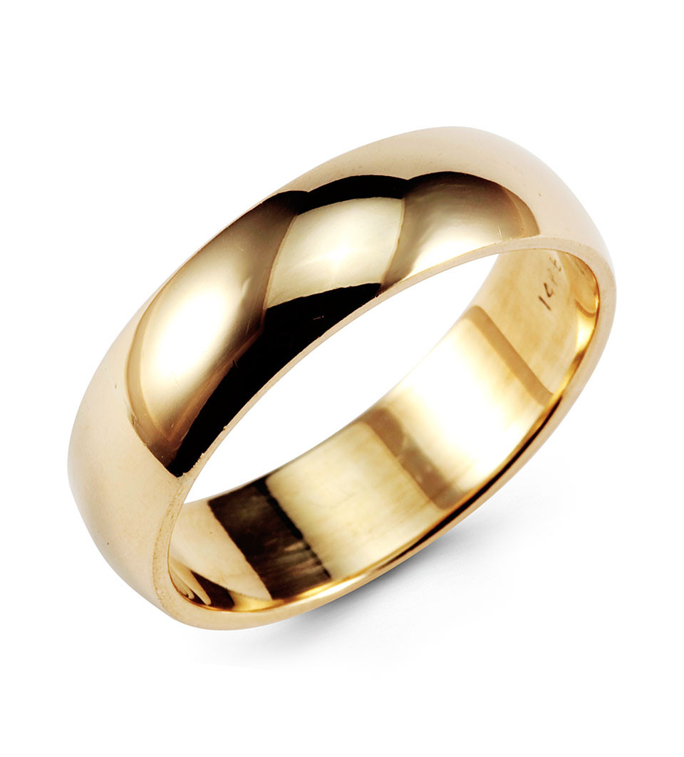 Clic 14k Yellow Gold Wedding Band Anniversary Ring