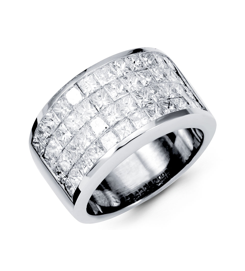 Alive With Glamour This Wide Band Ring
