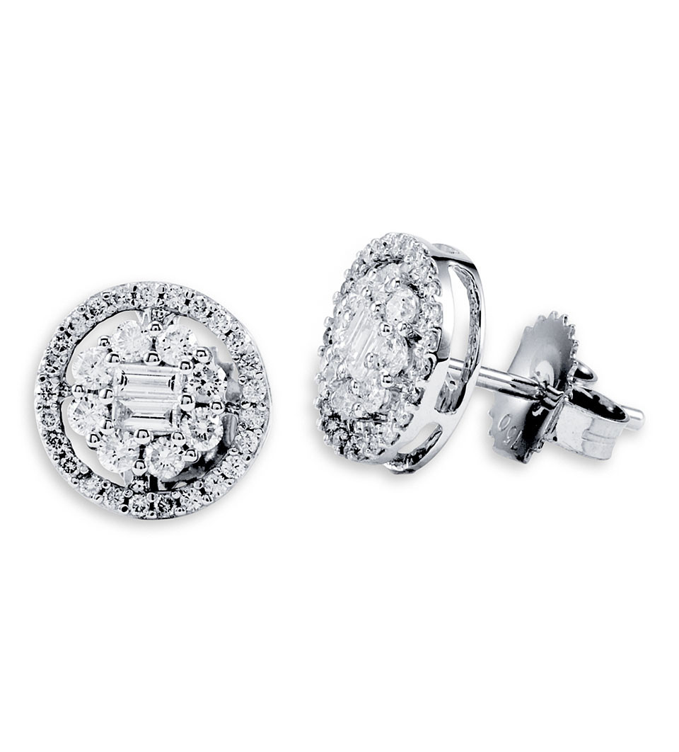 diamond studs baguette stud rg earrings products