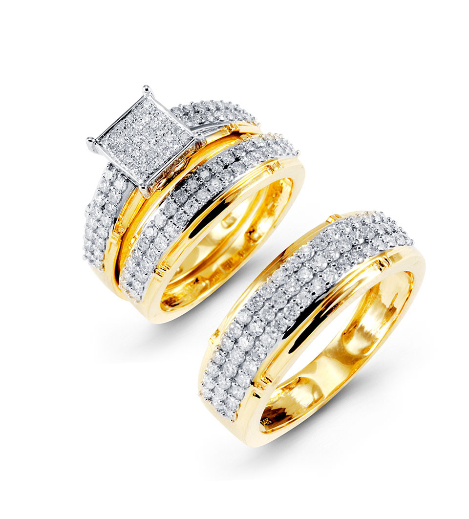 Embrace The Moment That Lasts Forever With These Eternity Announcing 14k Solid Yellow Gold Sets