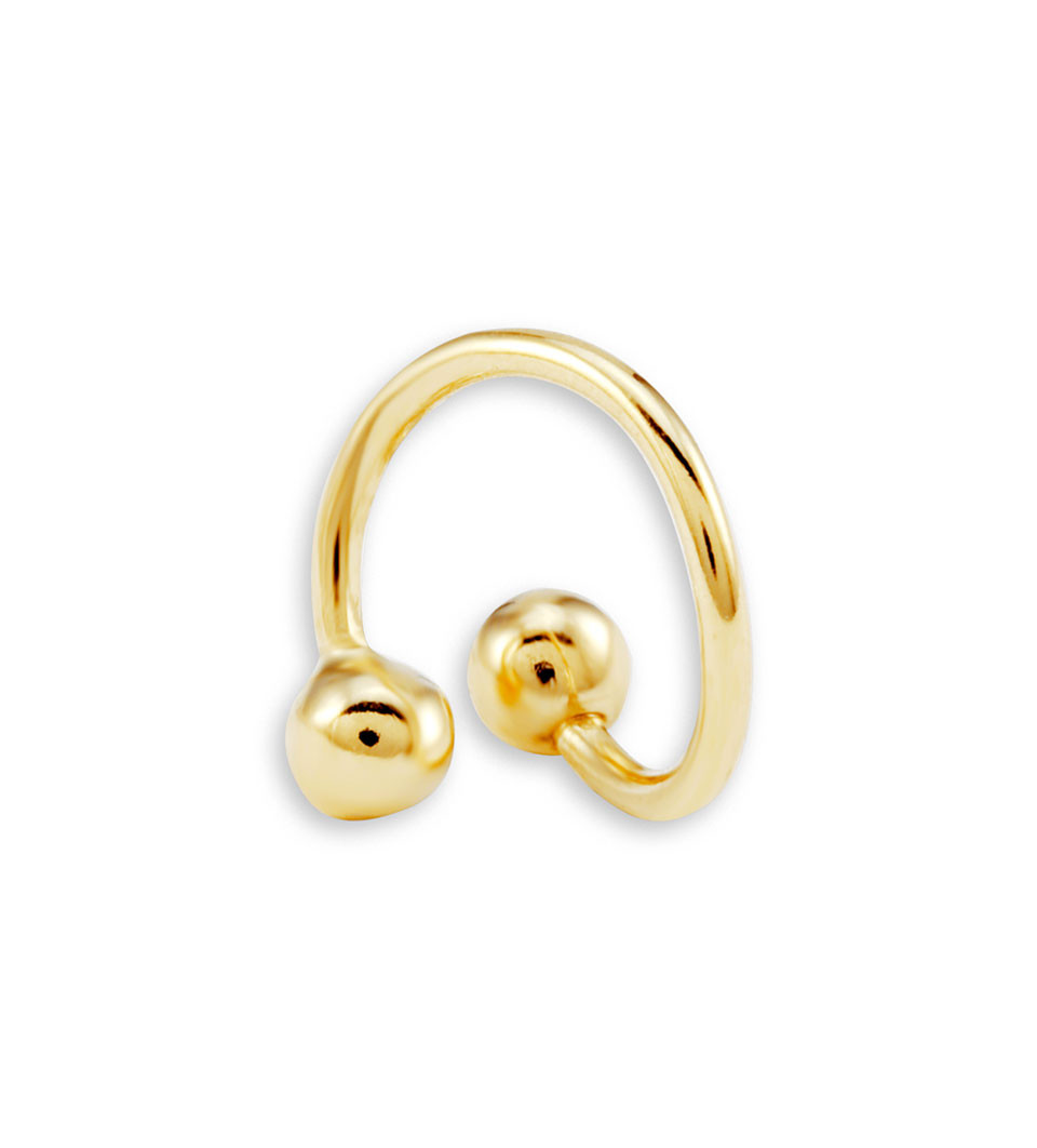 New 14k Yellow Gold 16g Twister Spiral Belly Navel Ring Belly