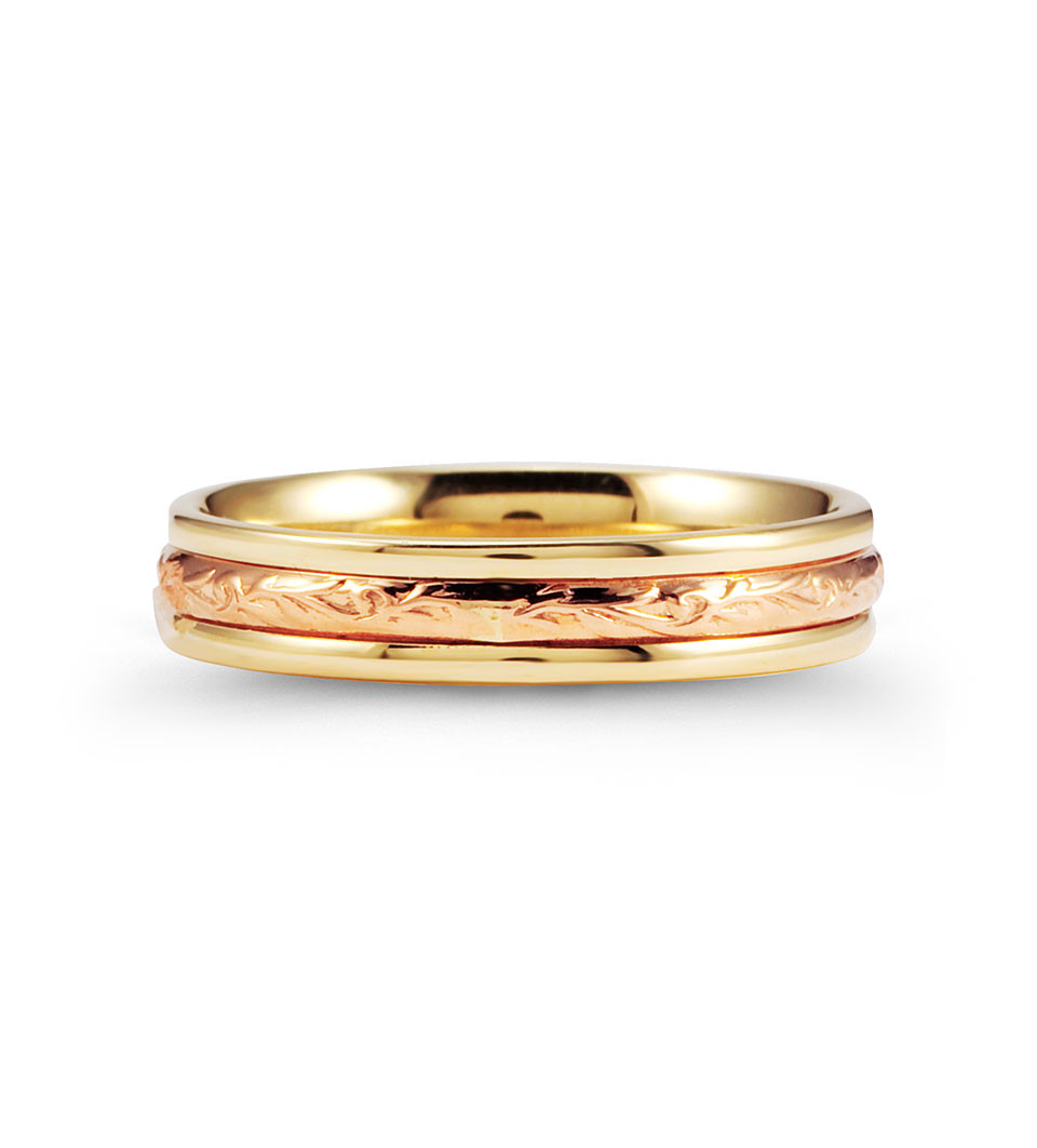 scrolled unique 14k rose yellow gold wedding ring band wedding ring band Create a masterpiece of elegance with this wedding band ring