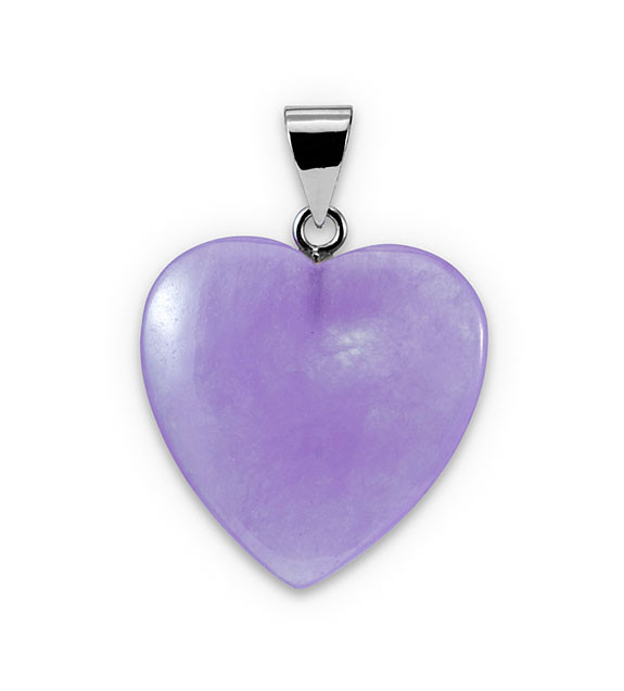 925 sterling silver purple jade pendant heart necklace gemstone wear mozeypictures Choice Image