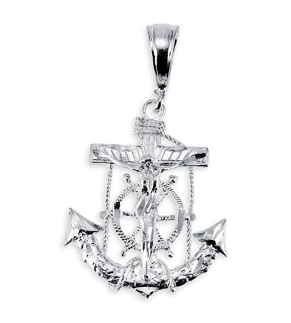 925 sterling silver crucifix mariner cross pendant 925 sterling silver crucifix mariner cross pendant aloadofball Images