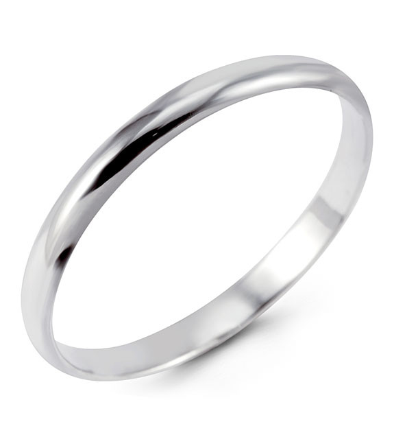 Polished Solid 925 Sterling Silver Wedding Band Ring