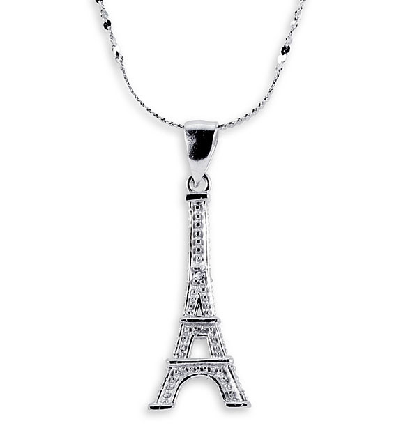 925 sterling silver round cz eiffel tower necklace 925 sterling silver round cz eiffel tower necklace mozeypictures Image collections