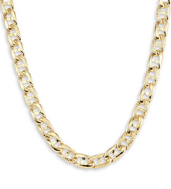 v chain necklace gold p mariner necklaces in