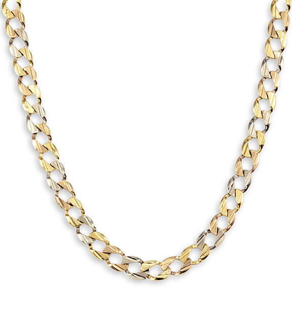 New 14k yellow white rose gold curb link chain necklace cuban stabilize aloadofball Images