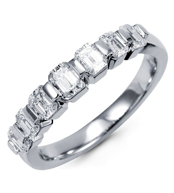 simply - Emerald Cut Wedding Ring