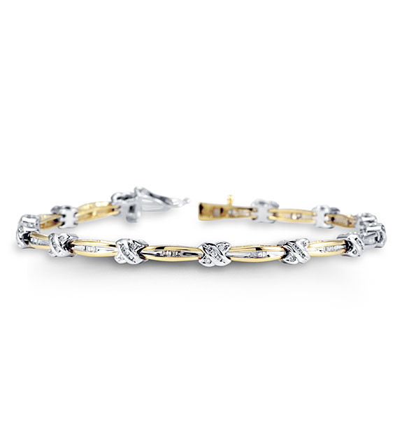 Women S New 14k White Yellow Gold Diamond Bracelet