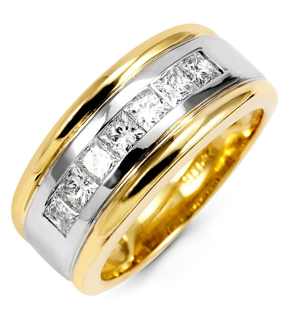 If You Re Looking For A Men S Wedding Ring This 14k Two Tone Diamond
