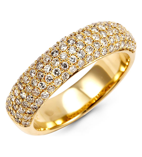 itm bands pave ebay gold mens img diamond ring round band wedding yellow