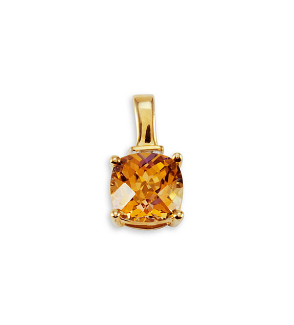 10k solid gold square yellow mystic fire topaz pendant gemstone shine aloadofball Image collections