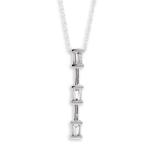 New 10k white gold diamond past present future necklace pendants revisit the past present and future pendant mozeypictures Image collections