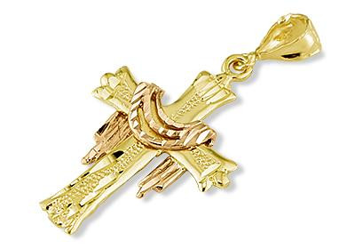 14k yellow rose gold jesus resurrection cross pendant religious here we feature this 14k two tone gold jesus resurrection cross charm pendant mozeypictures Gallery