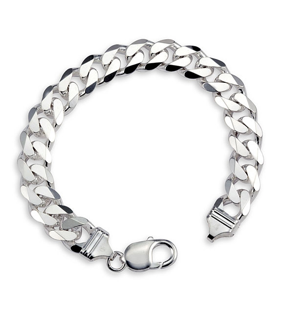 Mens 925 Sterling Silver Cuban Chain Link Bracelet Men S