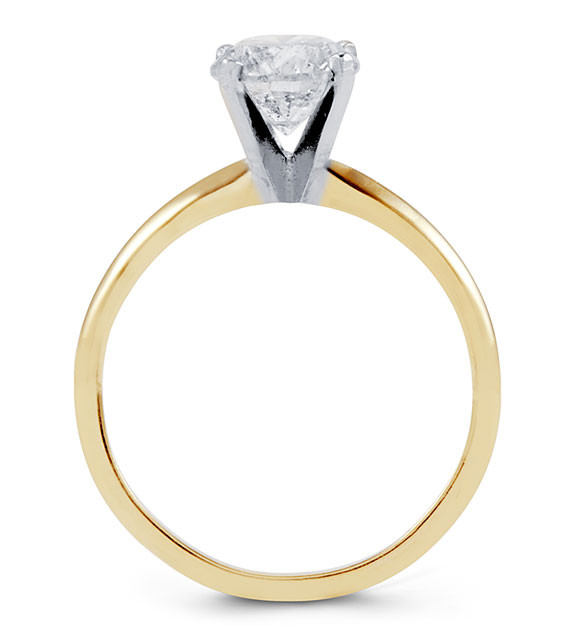 14k Solid Gold 1 3 ct Diamond Solitaire Engagement Ring Bridal