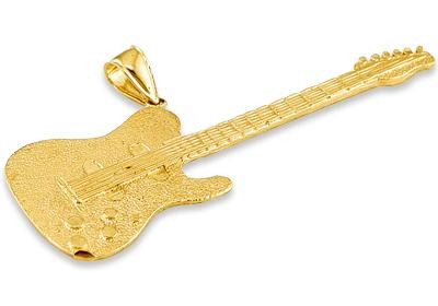 14k yellow gold electric guitar music charm pendant fashion rock on with this nicely sized big 14k yellow gold guitar pendant aloadofball Choice Image