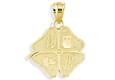 14k yellow gold good luck lucky charm shamrock pendant lucky charm engage aloadofball Gallery