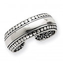 925 Sterling Silver Antiqued Modern Polished Toe Ring