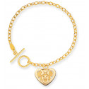 14K Solid Gold 7 1/2 Inch Minnie Mouse Charm Bracelet