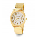 Men's Gold Tone Adjustable Band Quartz Wristwatch