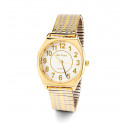 Men's Gold Silver Tone Adjustable Quartz Wristwatch
