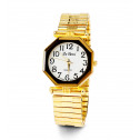Womens Adjustable Gold Tone Band Quartz Wristwatch