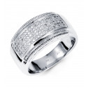 14K White Gold Mens Wedding Anniversary Diamond Band