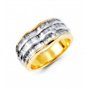 14k Yellow White Gold 1.25 Ct Baguette Diamond Ring