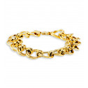 Womens 14k Bonded Gold Round Circle Link Chain Bracelet