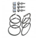 New Fashion CZ Diamond Stud Diamond Cut Gun Metal Hoop Earrings