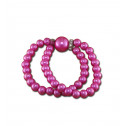 Fashion CZ Diamond Pink Synthetic Pearl Stretchable Bracelet