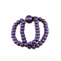 Fashion CZ Diamond Purple Synthetic Pearl Stretchable Bracelet