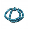Fashion CZ Diamond Blue Synthetic Pearl Stretchable Bracelet
