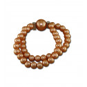 Fashion CZ Diamond Brown Synthetic Pearl Stretchable Bracelet