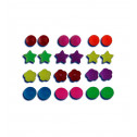 Womens Fashion Assorted Color Plastic Studs