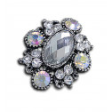 Women Fashion White CZ Diamond Victorian Adjustable Ring