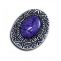 Women Fashion Vintage Aztec Purple Marble Adjustable Ring